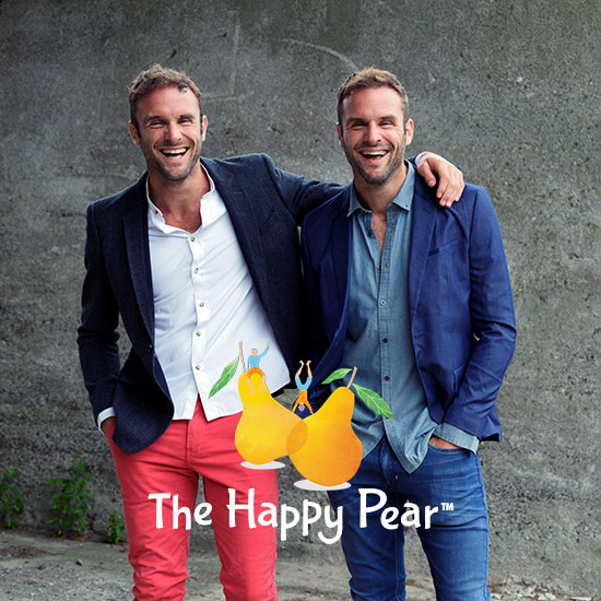 The happy pear podcast logo